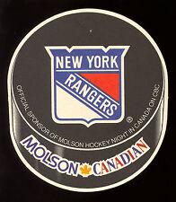 MOLSON BREWERY CANADIAN BEER N Y RANGERS  NHL HOCKEY TEAM COASTER ON CBC