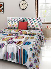 Homefabs 100% Cotton Double Bed Sheet with 2 Pillow Covers (DBS113)