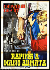 RAPINA A MANO ARMATA MANIFESTO CINEMA STANLEY KUBRICK NOIR THE KILLING POSTER 2F
