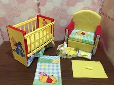 Barbie baby Nursery Set Furniture ,crib ,sofa ,carrier. Winnie The Pooh