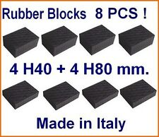 8 X Universal Scissor Lift Pads-H40 +H80 mm Ramp Rubber Blocks REAL RUBBER ITALY