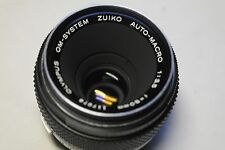Olympus Zuiko Auto-macro f/ 3.5 50mm lens in soft case. No 117078