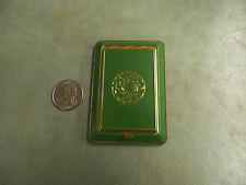 VINTAGE  Ladies Compact Art Deco Green Enamel Case Unknown Maker
