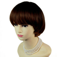 Lovely Bob Style Black Brown & Red Short Lady Wigs Dip-Dye Ombre hair WIWIGS UK