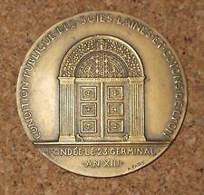 Médaille bronze Louis Volland, soies, laines et cotons de Lyon, A. Patey