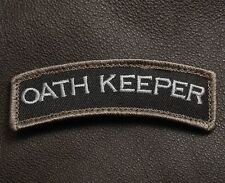 OATH KEEPER TAB ROCKER TACTICAL USA ARMY MORALE BADGE MILITARY SWAT VELCRO PATCH