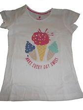 NEU Lupilu tolles T-Shirt Gr. 110 / 116 weiß mit Eis Motiv !!