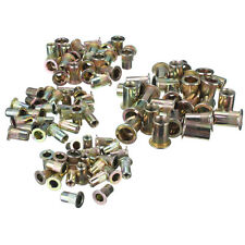 100XCarbon Steel Countersunk Head Blind Rivet Nuts Rivnuts Nutserts M4/5/6/8
