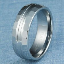 Tungsten Carbide Ring Mens Wedding Band Size 10.5
