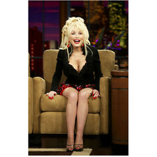 Dolly Parton Seated and Smiling on Talk Show 8 x 10 Inch Photo