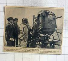 1940 King Inspects Bomber Command Gun Turret, Shooting Clay Pigeons