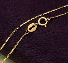 NEW 18INCH Solid 18K Rose Gold Necklace 0.9mm Charm Link Chain Necklace