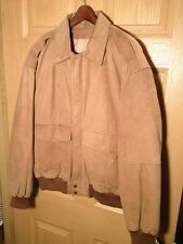 ADVENTURE BOUND MEN'S LEATHER BOMBERS STYLE JACKET SIZE MEDIUM