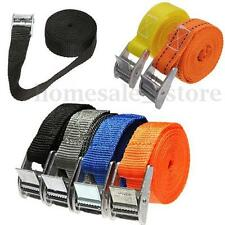 2X Pack Cam Tie Down Straps Cargo Lash Luggage Nylon Bag Belt Metal Buckle 2.5M