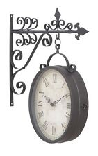 Double Sided Clocks Weather Large Roman Wall Indoor Outdoor