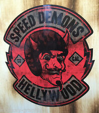 "Biker Sticker Bobber Skull Chopper ""Speed Demons"" Gentleman Oldschool Sticker"
