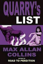 Quarry's List by Max Allan Collins (2010, Paperback) Perfect Crime Books