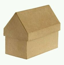 Gingerbread House Paper Mache Box- 3D Unfinished Craft Shape