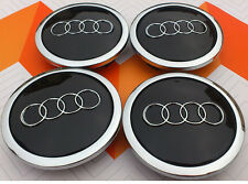 4 x ALLOY WHEEL CENTER HUB CAPS 69mm  AUDI BLACK  S3 S4 A3 A4 A6 A8 TT RS4 Q5 Q7