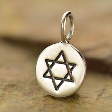 925 plata encanto Estrella de David fe judía para Collar Pulsera