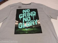 Nike DRI FIT SMACK TALK NO GRIND NO GLORY L LG 632532 T shirt Men's active grey