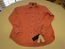 Men's Tommy Hilfiger trim fit S small SM long sleeve shirt red TH NEW SELLS OUT