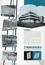 Zimmermann Fensterbau Stuttgart XL Reklame 1956 Glasdach Fenster Window ad