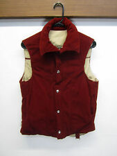 vtg Altra Puffer Vest Thinsulate Poly-Fill corduroy reversible canvas snap up S