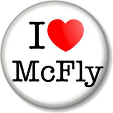 "I Love / Heart McFly 25mm 1"" Pin Button Badge Boy Band Group Pop Rock Music Cute"