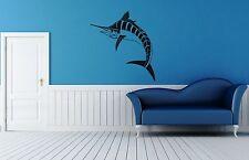Wall Stickers Vinyl Decal Swordfish Waterfowl Sea Predator Fish Bathroom ig120