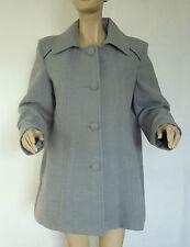 Nouveau Femme Gris clair DAMART facile à entretenir veste / manteau taille 20
