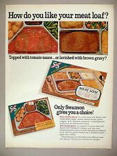 Swanson Frozen TV Dinner PRINT AD - 1968 ~~ Meat Loaf