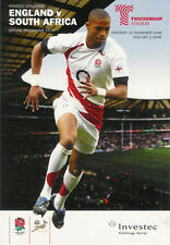 ENGLAND v SOUTH AFRICA 2008 RUGBY PROGRAMME