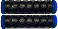 YAMAHA ATV GRIZZLY 400 450 550 660 700 BLUE THICK SKULL HANDLEBAR GEL HAND GRIPS