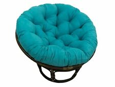 Papasan Cushion For Round Chair Or Oversized Floor Pillow Aqua Blue Microsuede