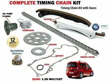 FOR FIAT QUBO 1.3D MULTIJET 2008-- NEW TIMING CAM CHAIN KIT + GEARS