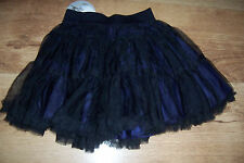 BNWT Age 2 Pumpkin Patch Black / Blueberry Tiered Shot Taffetta Tutu