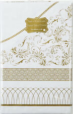 Gold & White Paper Tablecover - Golden Wedding 50th Anniversary Wedding Party