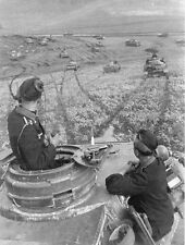 WWII B&W Photo German Panzer IV Turret View  WW2 / 4012