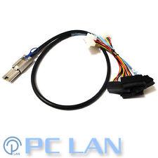 External Mini SAS to SAS w/ Molex Power Cable SFF-8088 to 4x SFF-8482 1M