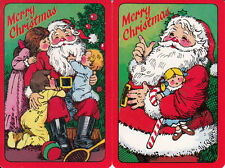 Vintage Swap / Playing Cards- 2 single - CHRISTMAS - SANTA AND CHILDREN