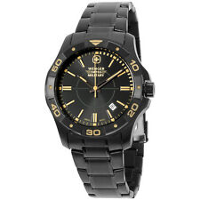 Wenger Swiss Stainless Steel Black Dial Military Men's Watch 79150