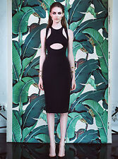 CUSHNIE ET OCHS $1,295 sexy cut-out RST15 Oscar jersey pencil dress 0-us NEW