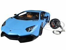 LAMBORGHINI AVENTADOR LP720-4 BLUE 50TH ANNIVERSARY 1/18 BY AUTOART 74682