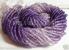 "13"" strand shaded purple AMETHYST gem stone faceted rondelle beads 3mm - 3.5mm"