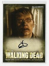 Walking Dead Season 3 Part 2 A16 Dallas Roberts Milton Auto/Autograph Card