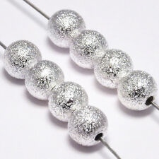 Lot 20 Perles Rondes en Métal 6mm Laiton PLAQUE ARGENT