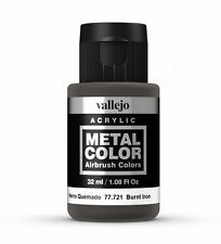 Vallejo Metal Color Burnt Iron 77.721 Acrylic Water-Based Paint 32ml