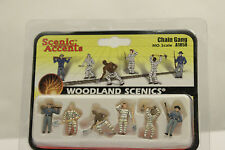 "Woodland scenics, figures ""chain gang"" emballage d'origine, h0, 1:87, a1858"