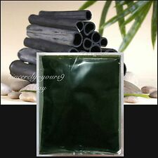100% Activated Bamboo Charcoal Powder Absorb Toxin Vegetable Wash Carbon 100 g.